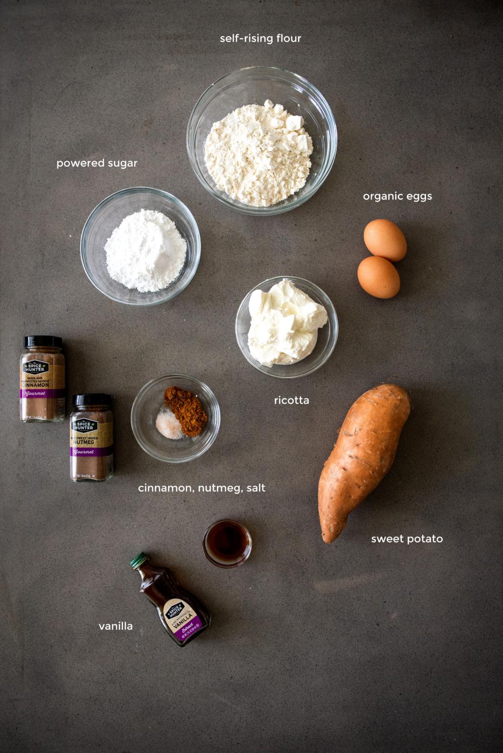 sweet potato fritters ingredients