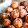 close up of sweet potato fritters